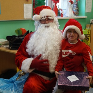 Mikołaj w przedszkolu i w klasach I-III