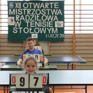 XII Otwarte Mistrzostwa Radziłowa w Tenisie Stołowym – Wyniki